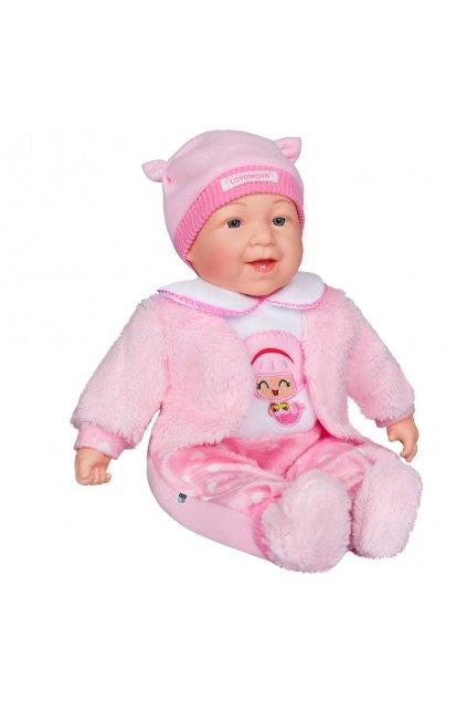 Slovensky hovoriaca a spievajúca detská bábika PlayTo Kristínka 46 cm