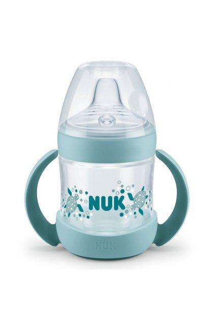 Dojčenská fľaša na učenie NUK Nature Sense 150 ml zelená