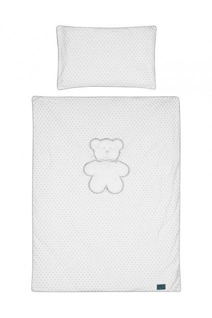 6-dielne posteľné obliečky Belisima Biely medvedík 90/120