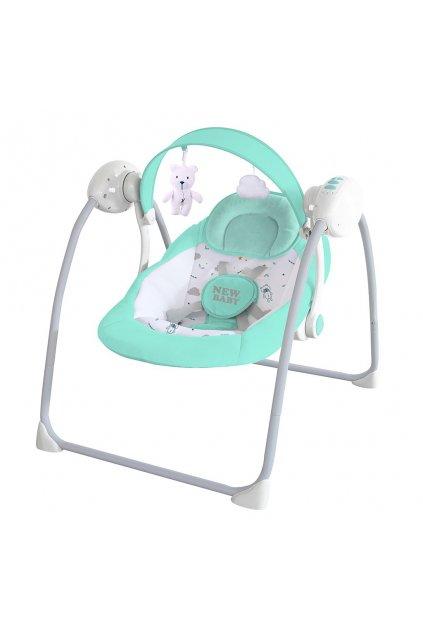 Detské hojdacie lehátko NEW BABY TEDDY Mint