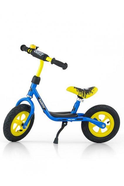 """Detské odrážadlo bicykel Milly Mally Dusty blue 12"""""""