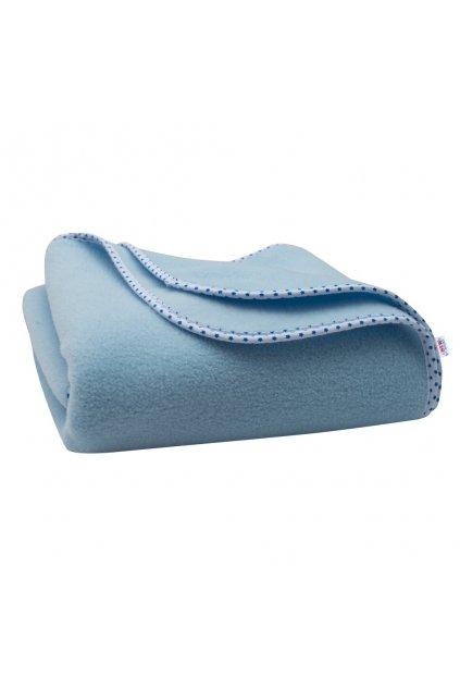 Detská fleecová deka New Baby 100x75 modrá hviezdičky