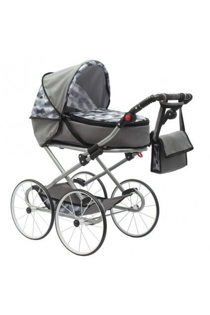 Detský Retro kočík pre bábiky 2v1 New Baby Nella sivý
