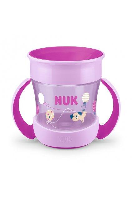 Detský hrnček Mini Magic NUK 360 ° s viečkom fialový