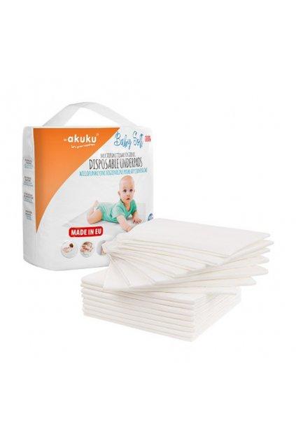 Jednorazové hygienické podložky Akuku Baby Soft 40x60cm 15ks