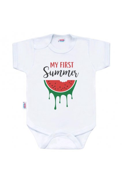 Body s potlačou New Baby My first Summer