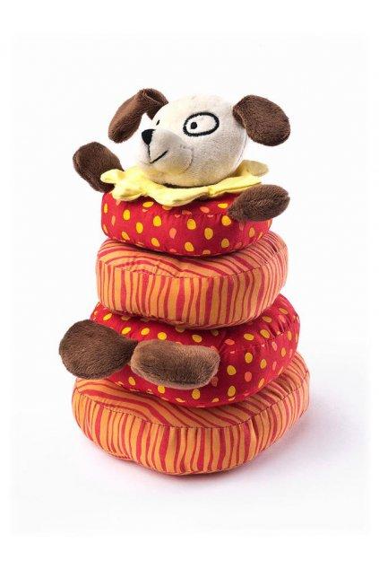 Edukačná plyšová hračka Sensillo psík pyramída