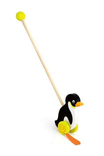 Drevená jazdiaca hračka Viga tučniak
