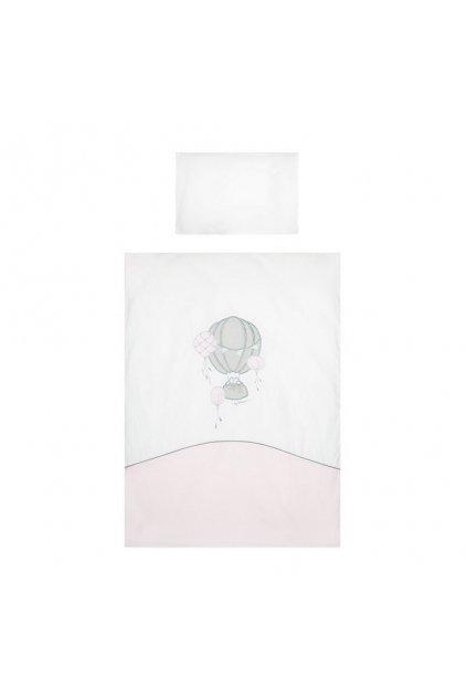 6-dielne posteľné obliečky Belisima Ballons 90/120 ružové