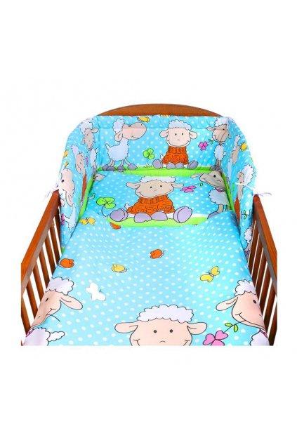 2-dielne posteľné obliečky New Baby 100/135 cm tyrkysové s ovečkou