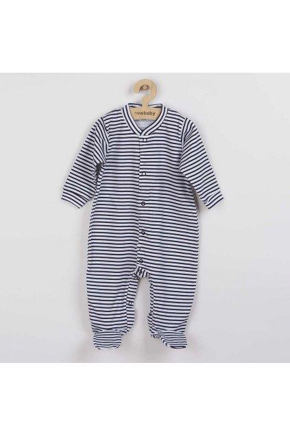Dojčenský overal New Baby Classic II s modrými pruhmi