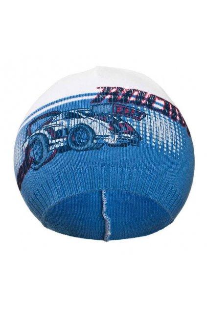 Jesenná detská čiapočka New Baby Racing tmavo modrá