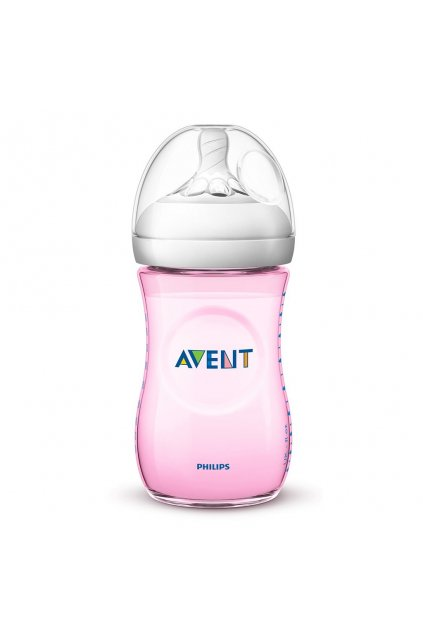 Dojčenská fľaša Avent Natural 260 ml ružová