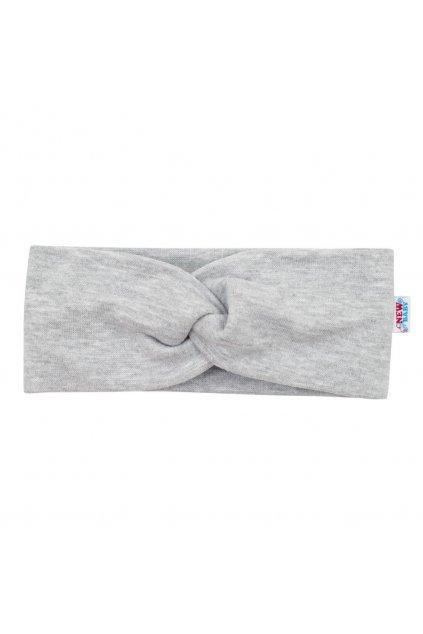 Dojčenská čelenka New Baby Style sivá 37 cm
