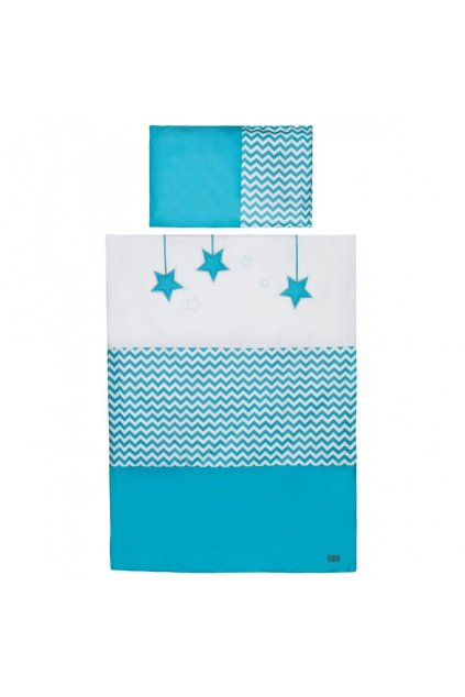 2-dielne posteľné obliečky Belisima Hviezdička 100x135 tyrkysové