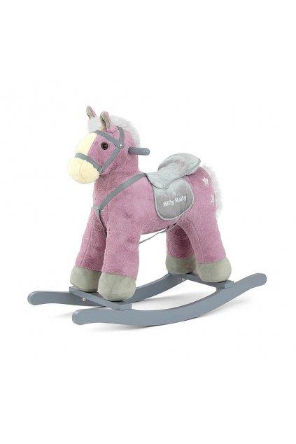 Hojdací koník s melódiou Milly Mally PePe fialový