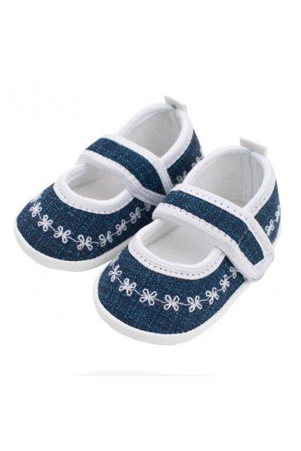 Dojčenské capačky New Baby Jeans biele 6-12 m
