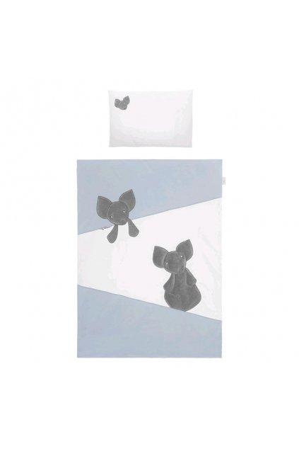 6-dielne posteľné obliečky Belisima Mouse 100/135 modré