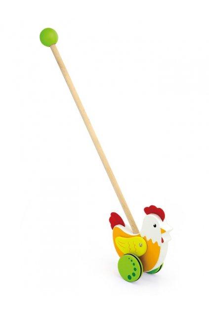 Drevená jazdiaca hračka Viga sliepočka