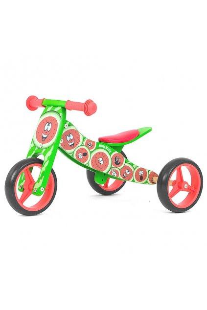 Detské multifunkčné odrážadlo bicykel 2v1 Milly Mally JAKE Watermelon