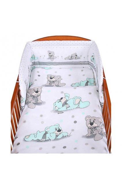 3-dielne posteľné obliečky New Baby 100/135 cm sivý medvedík
