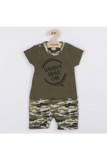 Dojčenský letný overal New Baby Army girl
