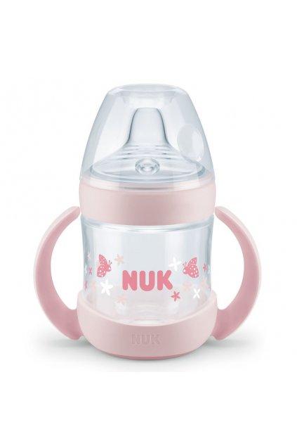Dojčenská fľaša na učenie NUK Nature Sense 150 ml ružová