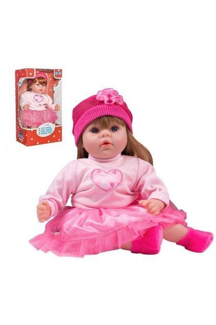 Maďarsky hovoriaca a spievajúca detská bábika PlayTo Tina 46 cm