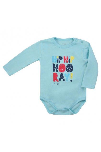 Dojčenské body s dlhým rukávom Koala Hip-Hip modré