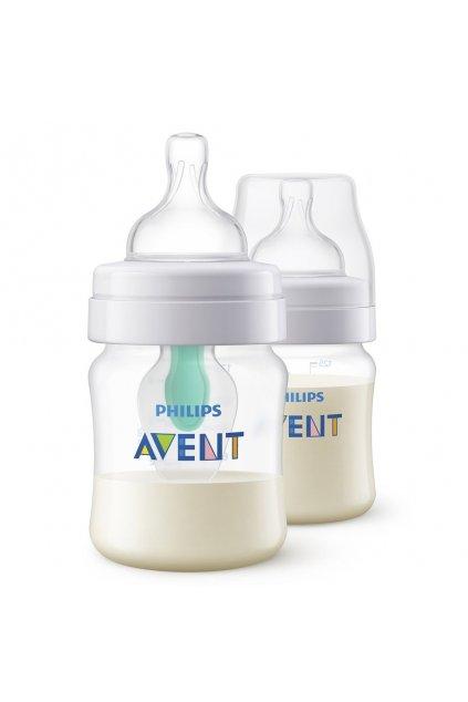 Dojčenská fľaša Avent Anti-Colic s ventilom Airfree 125 ml 2 ks