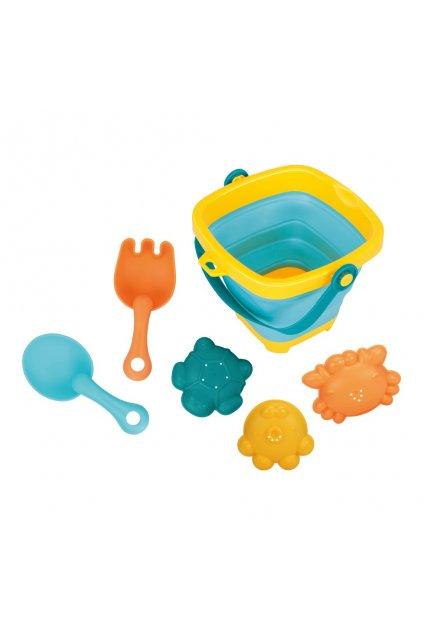 Skladacie vedierko a hračky do vody 5ks BAYO
