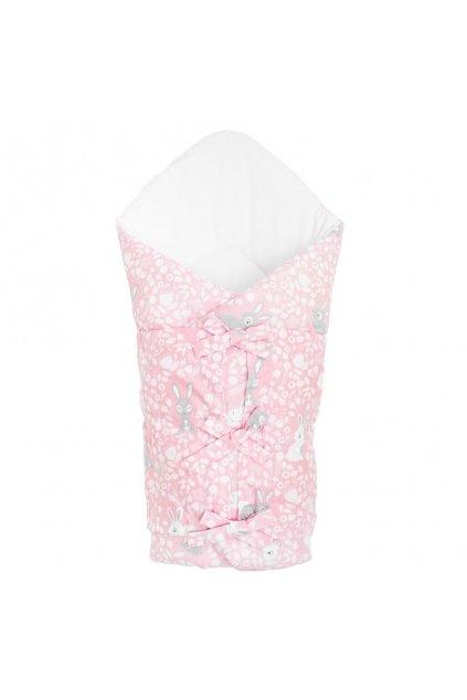 Klasická šnurovacia zavinovačka New Baby Králičky rúžová