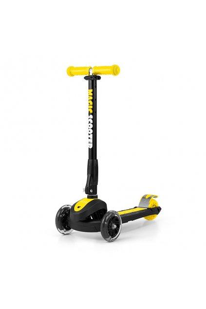 Detská kolobežka Milly Mally Magic Scooter yellow