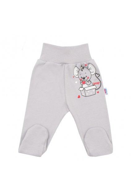 Dojčenské polodupačky New Baby Mouse sivé