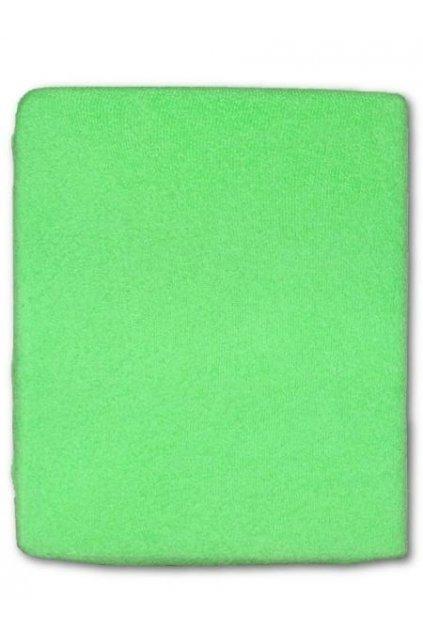 Froté prestieradlo do postieľky zelená