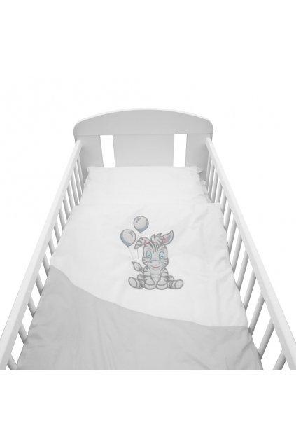 2-dielne posteľné obliečky New Baby Zebra exclusive 100/135 bielo-sivé