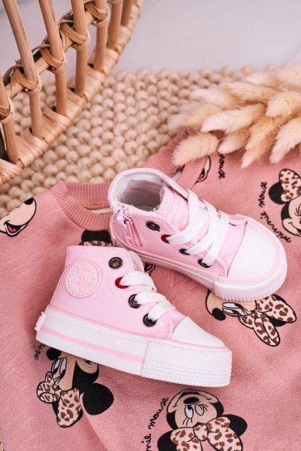 Detské tenisky farba ružová kód obuvi HH374191 PINK