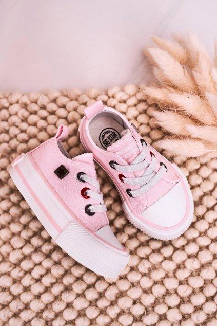 Detské tenisky farba ružová kód obuvi HH374197 PINK