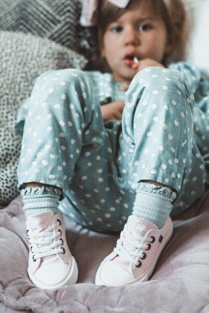 Detské tenisky farba ružová kód obuvi HH374093 PINK