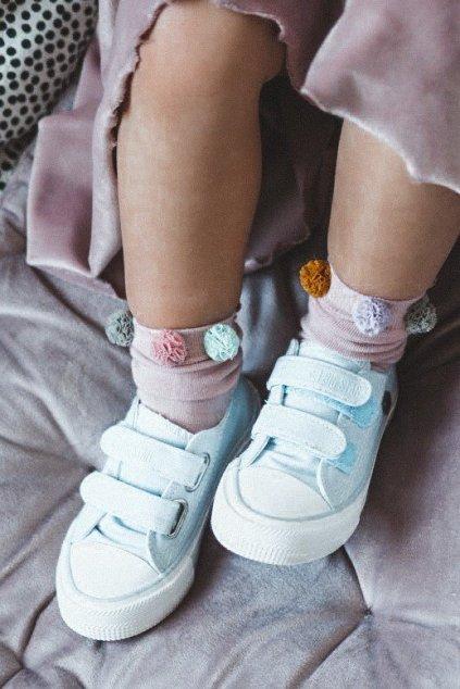 Detské tenisky farba modrá kód obuvi HH374100 BLUE