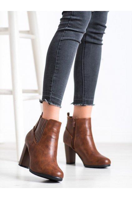 Hnedé dámske topánky Abloom NJSK F815-5C