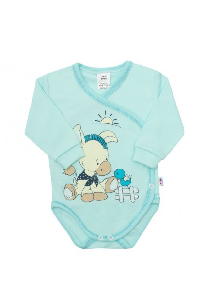 Dojčenské body New Baby Donkey tyrkysové