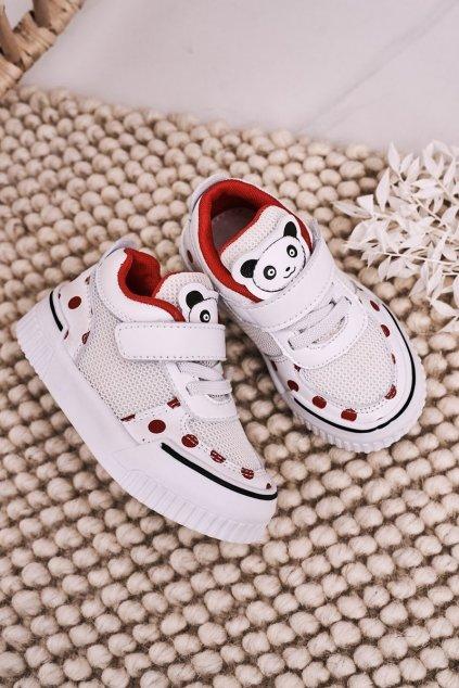 Detské tenisky farba biela kód obuvi NC59 RED