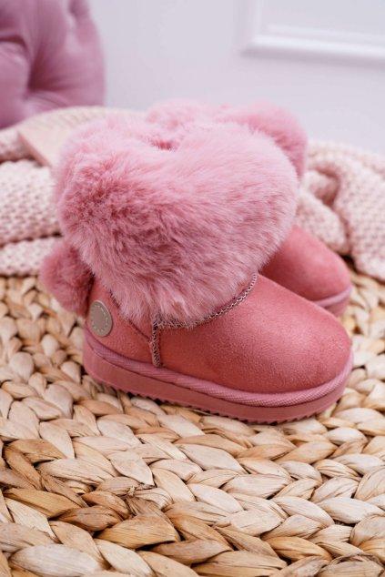 Detské snehule farba ružová NJSK 20232-1C/2C PINK