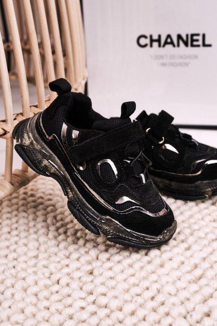 Detské tenisky farba čierna kód obuvi I033 BLACK