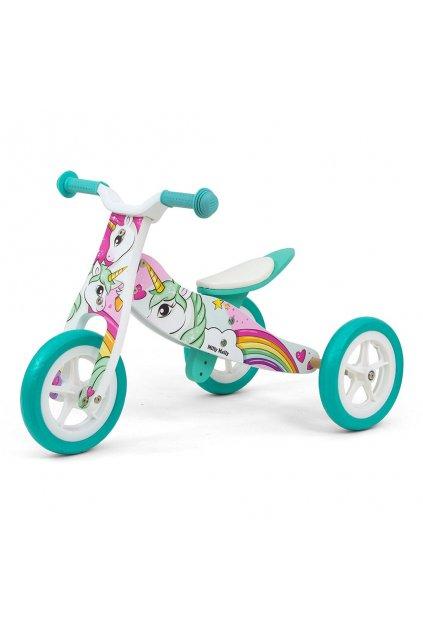 Detské multifunkčné odrážadlo 2v1 Milly Mally Look Unicorn