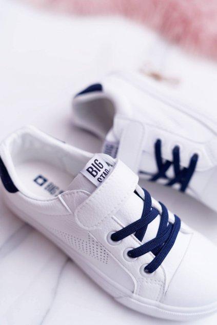 Detské tenisky farba biela kód obuvi DD374107 WHITE/NAVY