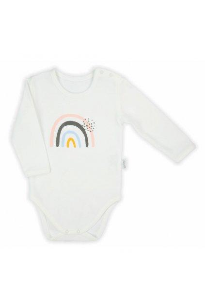 Dojčenské body s dlhým rukávom Nicol Rainbow