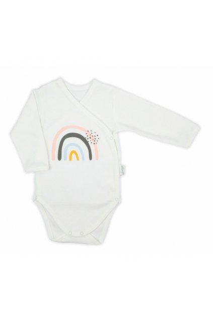 Dojčenské bavlnené body s bočným zapínaním Nicol Rainbow