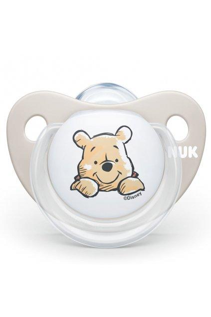 Dojčenský cumlík Trendline NUK Disney Medvedík Pú 6-18m béžový BOX